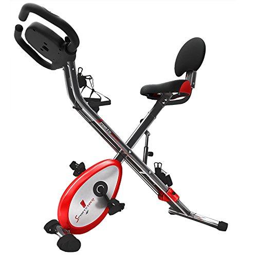 🥇 Sportstech Bicicleta estática Plegable F-Bike X100-B con Sistema de Resistencia Inteligente