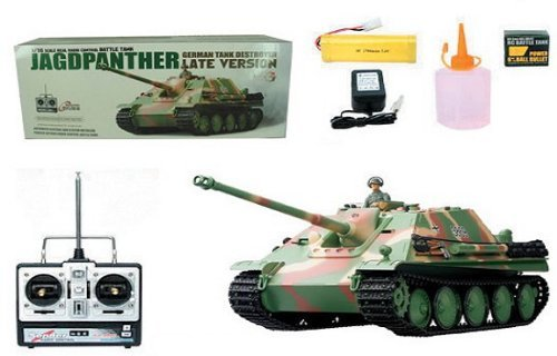 Heng Long 1/16 Radio Control German JAGDPanther Tank Destroyer Airsoft RC Battle Tank w/ Sound & Smoking Effect RC -