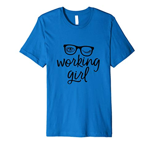 Premium T-shirt Working Girl with Glasses