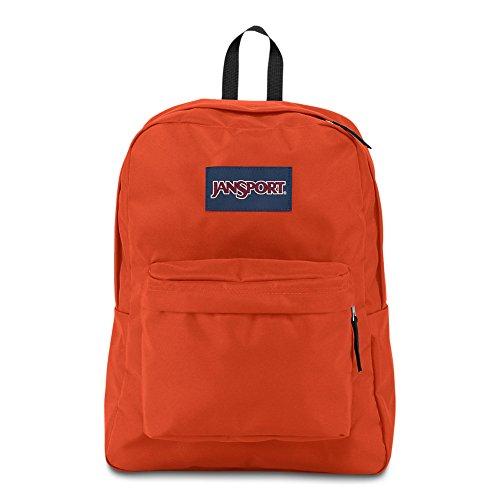 JanSport Superbreak Backpack - Cherry Tomato - Classic, Ultralight (Orange Backpack)