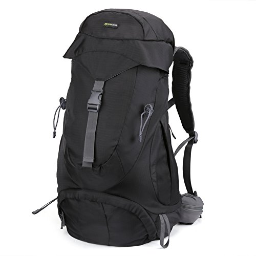 Hiking Backpack - Evecase Water Resistant Outdoor Climbing Camping Mountaineering Outdoor Sports Travel Backpack / Daypack with Mesh Back Support - Black 40L