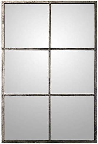 Espejo de Hierro Forjado Ventana de Marco de Metal Jardín Porche Exterior Ventana Decorativo Espejo H0712: Amazon.es: Hogar