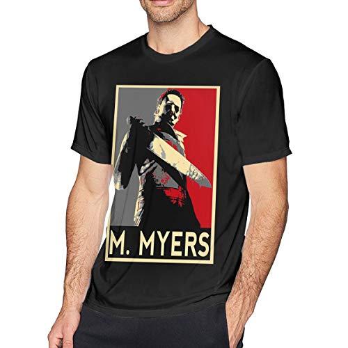 Guangou Mens Fashion Halloween 2 Michael Myers T Shirt 4XL Black