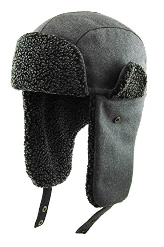 KBW-620 DGY Aviator Trapper Hat Trooper Winter Cap Ski