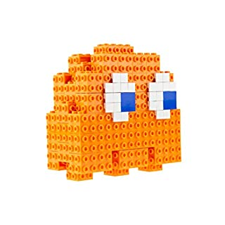 Strictly Briks Pac-Man 3D Clyde Brik Model Set - 115 Pieces - Officially Licensed by BANDAI NAMCO Entertainment Inc