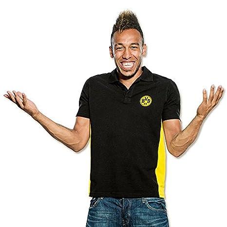Borussia Dortmund BVB Polo Camisa Negro Negro Talla:Small: Amazon ...