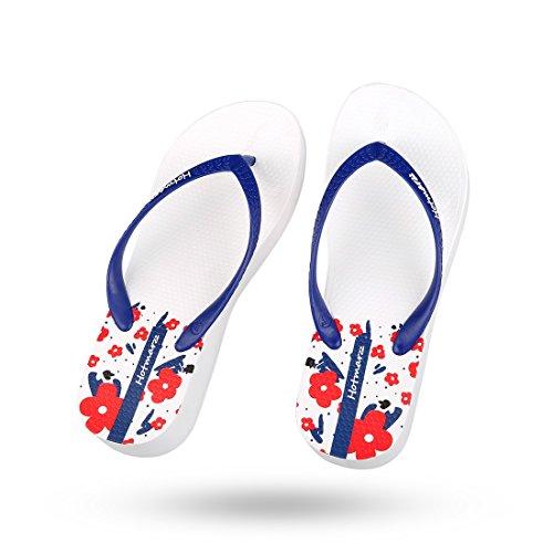 Sandals White Slippers Beach Sakura Summer Women's Flip Platform Flops Hotmarzz Wedge Yqvpx