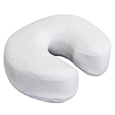 EARTHLITE Massage Memory Foam Cushion - Massage Table & Massage Chair Face Cradle Pillow w/ Washable Fleece - Fleece Face Cradle Cover