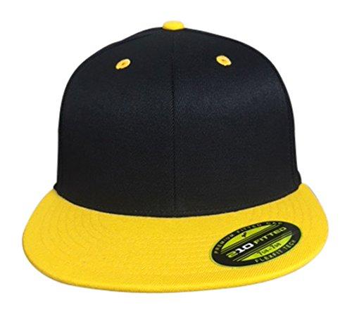 Flexfit Premium 210 Fitted Flat Brim Baseball Hat (Large/X-Large, -