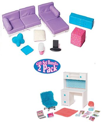 Buy Doll Furniture For 18 Doll Living Room Set Desk And Chair