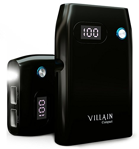 [Quick charge 3.0] Villain - 10000mAh mobile Backup Battery Cell phone Charger - by indicates of  built in LED pen Lights and LED exhibit - External Battery Pack by indicates of  twin USB Ports - ideally suited potential Bank for iPhones, Androids, Tablets & More