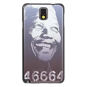 conseguir Patrón Memorying Nelson Mandela tierra cubierta de la caja trasera dura plástica gris para Samsung Galaxy Nota 3 N9000