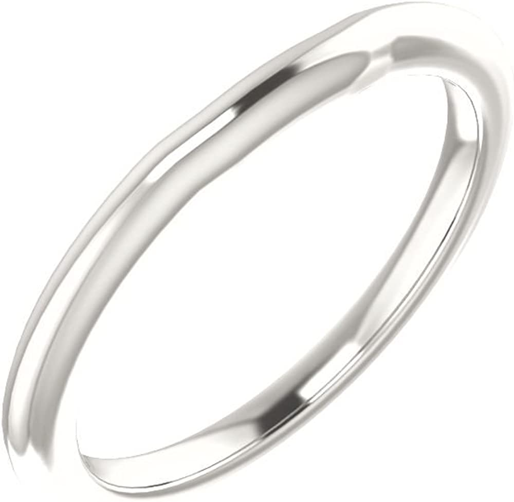 Size 7 Bonyak Jewelry Continuum Sterling Silver Band for 5 x 3 mm Emerald Ring