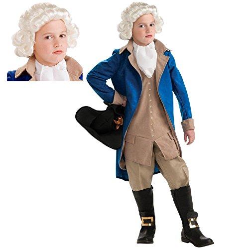 Kids George Washington Mask (George Washington Costume Bundle Set Medium)