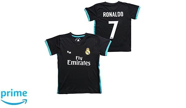 CAMISETA 2ª EQUIPACION REAL MADRID REPLICA OFICIAL 2017-2018-RONALDO Nº7 TALLA XL: Amazon.es: Deportes y aire libre