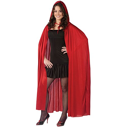 Red Ridding Hood Cape (Fun World Women's Hooded Cape, red,)