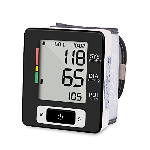 Wrist Blood Pressure Monitor,Sinvitron digital blood pressure machine FDA Approved with adjustable cuff,IHB indicator,2 x 90 momery by Sinvitron