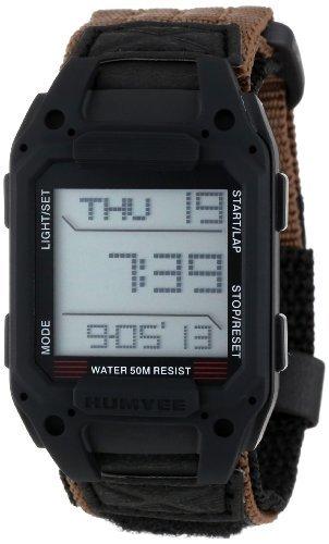 Humvee Men's HMV-W-RCN-BLK Recon Tan Nylon Strap Watch (Humvee Watch)