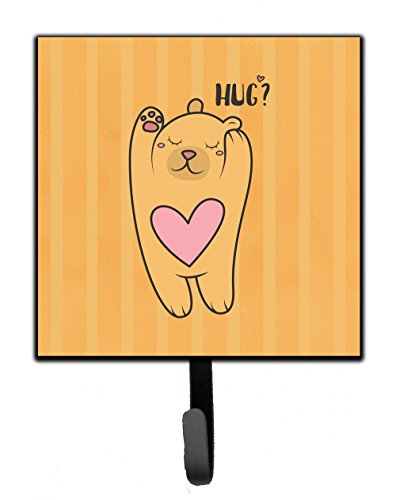 Treasure Bear Hugs (Caroline's Treasures BB7470SH4 Nursery Hug Bear Leash or Key Holder , 7Hx4.25W, multicolor)