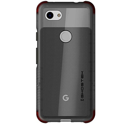Ghostek Covert Slim Shock Absorbing Bumper Case Designed for Google Pixel 3a (2019) - Smoke | Scratch Resistant Clear Back - Raised Bezel for Extra Screen Protection