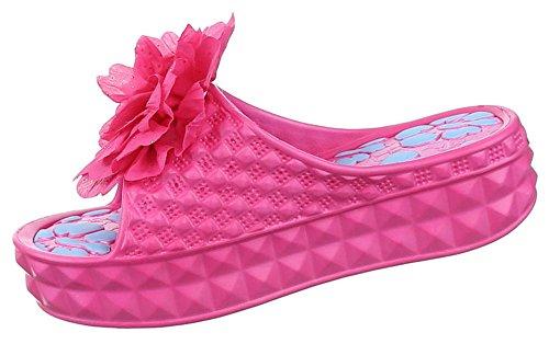 Damen Sandalen Schuhe Pantoletten Mules offen Sommerschuhe schwarz pink blau weiss 36 37 38 39 40 41 pink Modell 1