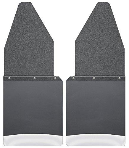 Husky Liners Kick Back Mud Flaps 12IN Black Top/SS Wt Fits 88-18 F150/250