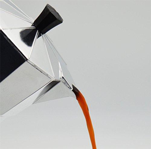 photo Wallpaper of Argon Tableware-Argon Tableware 6 Cup Italian Style Stove Top Espresso Coffee Percolator. Traditional Design-Silver