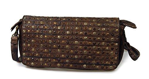 largeur Marron vintage couleur en iO hauteur cuir 30 SWISH main pochette mIO x cm Marron choix à iO au x sac 15 x 5 profondeur x tqwwASH