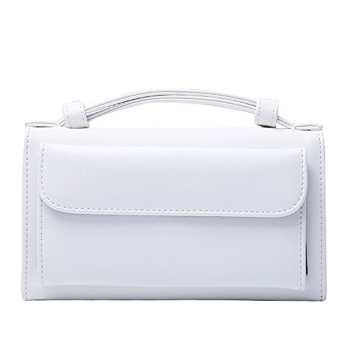 Gwqgz New Fashion Colors Unique Temperament Handbag Chain Single Multi-functional Handbag Bag Black White