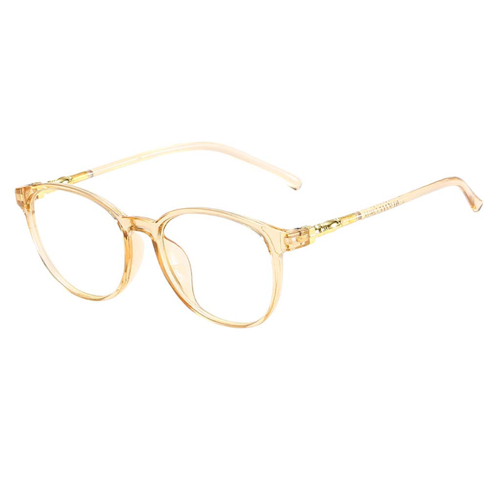 Unisex Stylish Square Non-Prescription Eyeglasses Glasses Clear Lens Eyewear Yellow