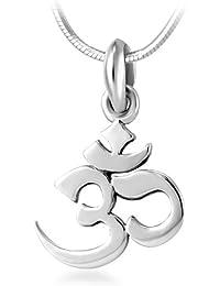 "<span class=""a-offscreen"">[Sponsored]</span>925 Sterling Silver Yoga, Aum, Om, Ohm, Sanskrit Yogi Pendant Necklace, 18 inches"