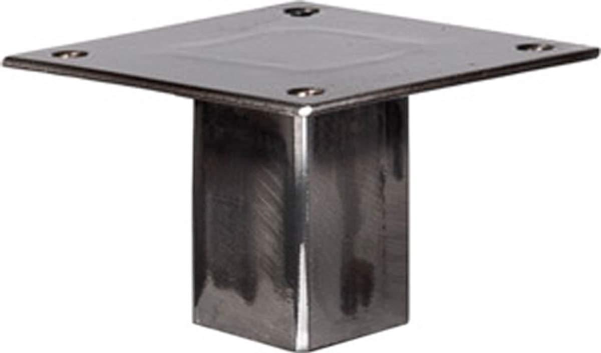 HLT-14A-J-90-0000 1 Piezas HOLZBRINK Pata de la Mesa de Acero Altura: 90 cm Acero Pulido y Lacado Perfil Cuadrado 80x80 mm