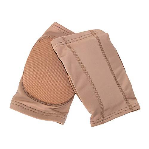 DANCEYOU Dance Knee Pads, 1 Pair of Thicken Sponge Kneepads Brace for Pole Dance, Gymnastics, Yoga, Cheer, Joint Pain, Tan, L