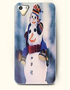 OOFIT iPhone 5 5s Case - Snowman And His Son Horseback Joy