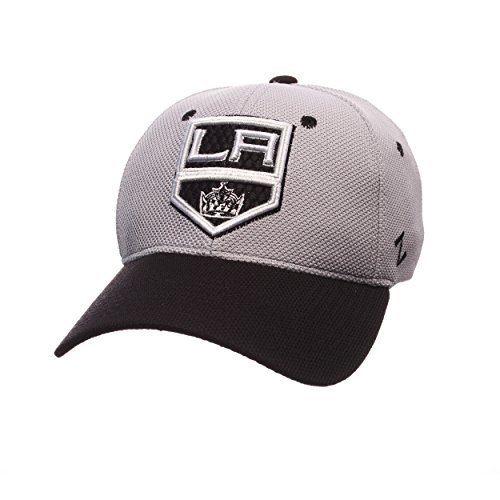 (NHL Los Angeles Kings Men's The Athlete Z-Fit Hat, X-Large, Grey/Black)