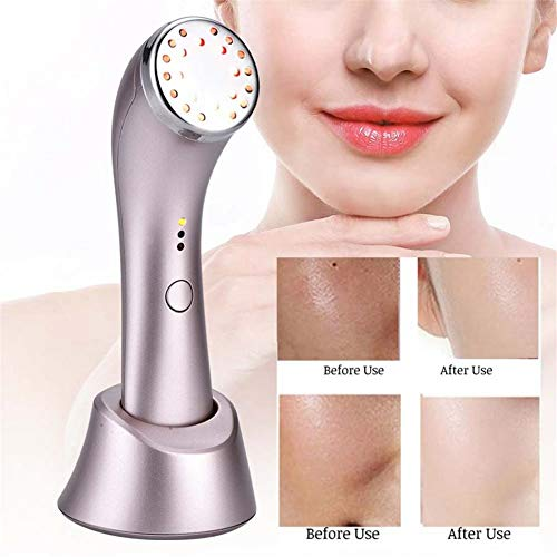 JASMZ 3 in 1 Face Skin Photon Rejuvenation Machine LED Red Light Skin Firming Whitening Face Massager Beauty Device Rechargeable -Anti-Aging - Ease Remove Dark Circles -Boost Product Absorption