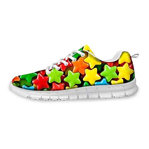 Donna Da Traspirante Per Corsa Polero Con Sneaker 6 Lacci Scarpe ETqwPXC
