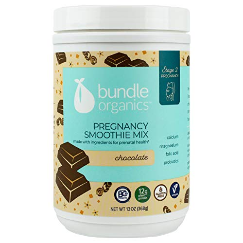 Bundle Organics Pregnancy Smoothie Mix, Stage 2 Pregnancy, Chocolate, 13 Ounce (Best Smoothies For Pregnancy)