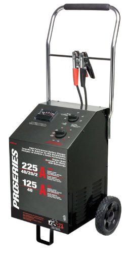 Schumacher PSW-22 DSR ProSeries 225/125/40/20/2 Amp 6/12 Volt Manual Wheel Battery Charger/Starter
