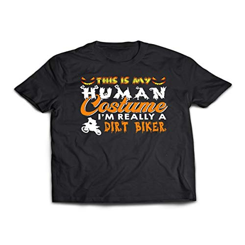 This is My Human Costume I'm Really A Dirt Biker Halloween Shirt - Tshirt ()