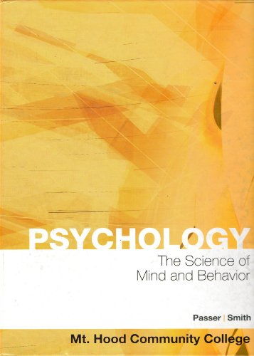 Hardcover:Psychology: The Science of Mind and Behavior 5th Edition (Book Only)