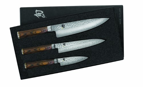 Kershaw Shun Steel Paring Knife - Shun TDMS0300 Premier Knife Starter Set, 3-Piece
