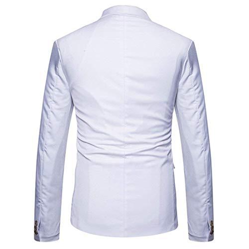 's Bal Casual Mens Blanc Soirée De Essentiel Blazer Breasted Manteau Men Solid Bouton Men's Mariage Business Veste Double Tuxedos 4qnZw54x