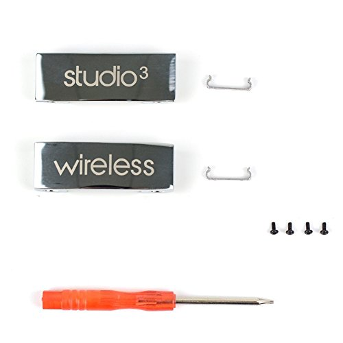 (Studio 3 Wireless Metal Folding Hinge Repair Parts Kit/Metal Connector for Studio 3 Wireless Over-Ear Headphones (Silver))