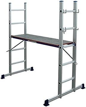 SONECOL 496 - Escalera aluminio andamio 496: Amazon.es: Bricolaje y herramientas