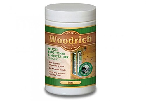 Wood Brightener & Wood Neutralizer for Wood Decks, Wood Fences, Wood Siding, and Log Cabins - Citralic - Woodrich Brand - Covers up to 750 Square Feet - Safe to use on All Types of Wood - Easy to Use