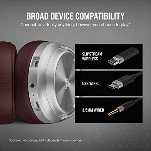 Corsair Virtuoso RGB Wireless SE Gaming Headset - Sonido envolvente 7.1 de alta fidelidad con micrófono de calidad de transmisión, auriculares de espuma viscoelástica, duración de la batería de 20 horas, funciona con PC, PS5, PS4 - Espresso