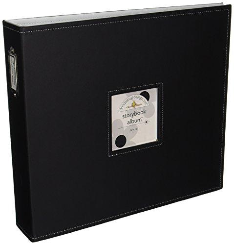 Doodlebug Design Storybook for Scrapbooking Album, 12 by 12-Inch, Beetle Black