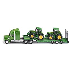 1:87 Siku John Deere Low Loader With 2 John Deere Tractors