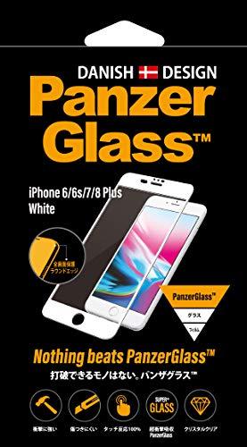 光のレルム相手【国内正規品】PanzerGlass(パンザグラス) iPhone 6/6s/7/8 Plus White 衝撃吸収 全画面保護 ラウンドエッジ ダブル強化ガラス 4層構造 【2621】 2621